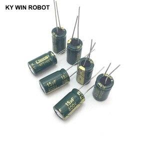 Image 3 - 10 шт. алюминиевый электролитический конденсатор 15 мкФ 400 в 10*17 мм frekuensi tinggi, радиальный электролитический конденсатор