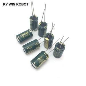 Image 3 - 10 pièces En Aluminium condensateur électrolytique 15 uF 400 V 10*17mm frekuensi tinggi Électrolytique Radial kapasitor