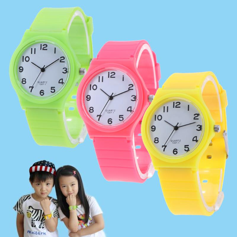 Fashion Boys Girls Quartz Watch Kids Children's PU Leather Strap Student Time Clock Wristwatch GiftsColorful Number Dial Clock matisse fashion austria crystal snowflake rotatable dial leather strap buiness quartz watch wristwatch rosegold