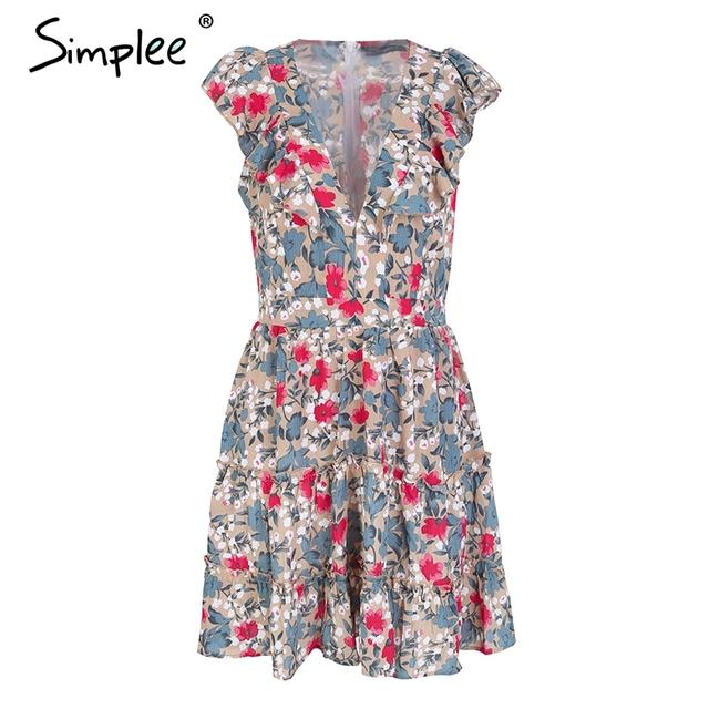 Sleeveless A-Line Floral boho dress
