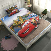 3D Lightning McQueen Cars Bedding Set Twin Size Bedspreads Boys Coverlets for Kids Bedroom Decoration pillow case Children Home