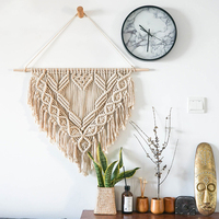Macrame Wall Hanging Hand woven Tapestry Nordic Living Room Wall Decoration Macrame Cotton Rope Mandala Tapestry Farmhouse Decor