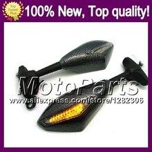2X Carbon Turn Signal Mirrors For SUZUKI GSXR1000 GSXR 1000 GSX R1000 GSXR-1000 K2 00 01 02 2000 2001 2002 Rearview Side Mirror