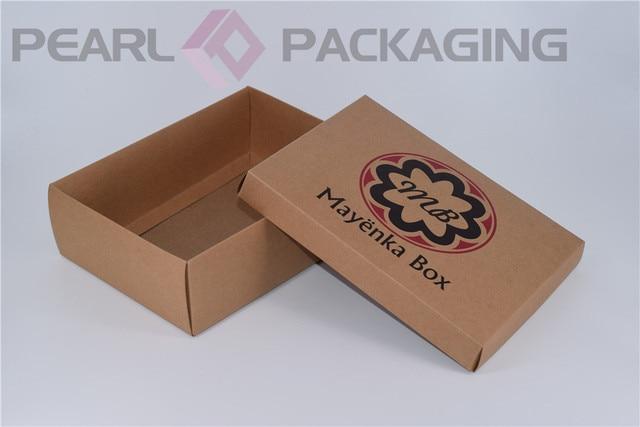 1604b6bacb1a Caja de papel Kraft marrón empaquetado plano, con caja de cosméticos con  tapa separada de