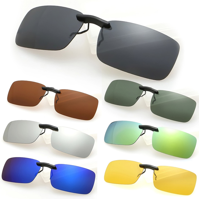 1b2f8647907 New Hot Man Women Polarized Day Night Vision Clip-on Lens Driving Glasses  Sunglasses W1