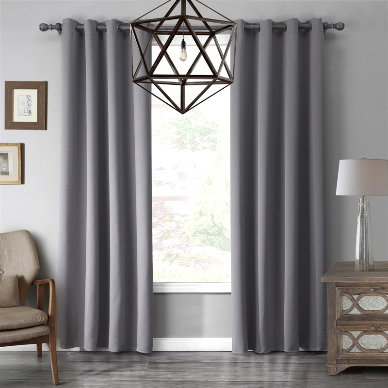 Luxury Modern Solid Gray BlackRed Purple Color Top Quality Bedroom And Living Room Blackout Curtain Window In Curtains From Home Garden On