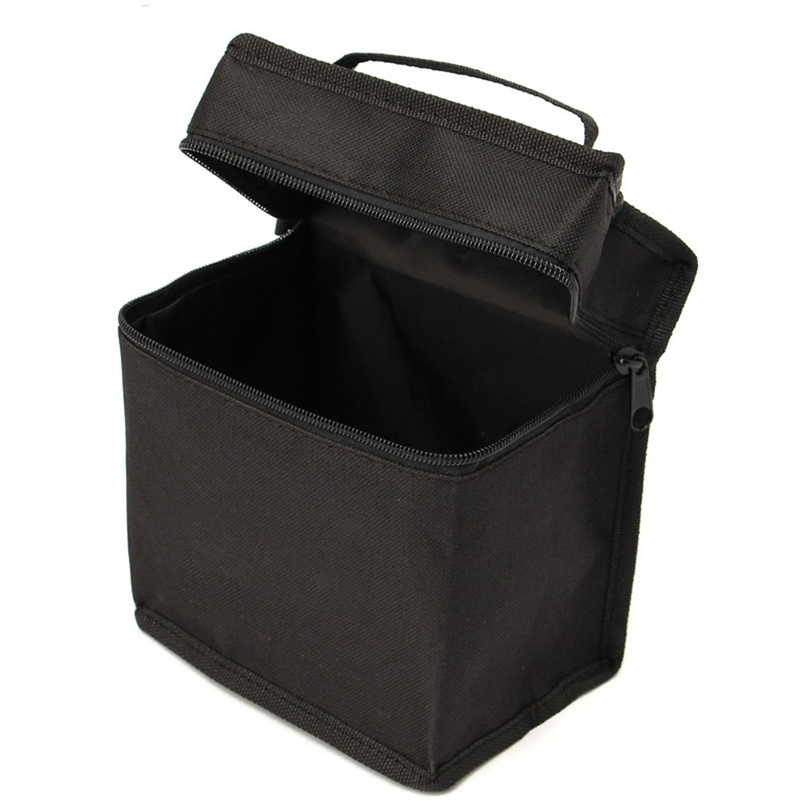 Large Capacity Zipper Black Folding Art Markers Zipper Canvas Storage Pencil Bag Hold 30/48/60/80Pcs Markers Pen