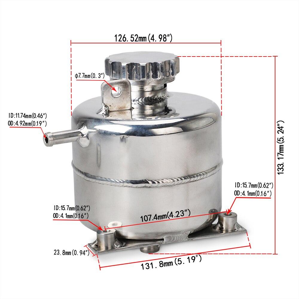 Pour MINI Cooper S R52 R53 accessoires de voiture en-tête de refroidissement Expansion trop-plein réservoir d'eau et bouchon réservoir en aluminium bidon YC101471 - 2