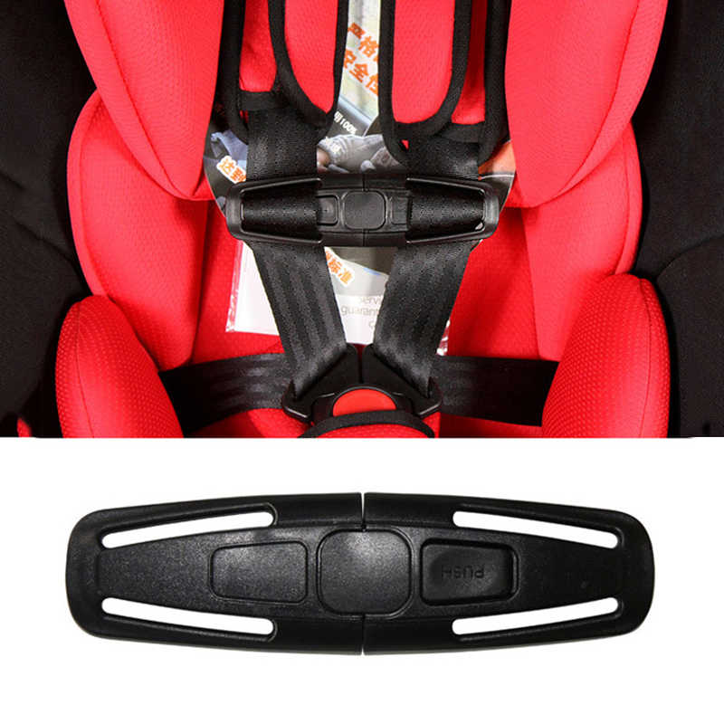 Auto-Styling 1 Pc Baby Veiligheid Auto Seat Strap Seat Belt Cover Kind Peuter Borst Harnas Clip Veilig Gesp zwart