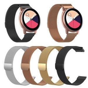 Pulseira de relógio magnético de aço inoxidável para samsung galaxy assistir ativo SM-R500 acessórios relógio inteligente pulseira clássica