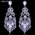 Mecresh Великолепная Кристалл Большой Длинные Висячие Серьги Серебрение Геометрические Моды Свадебной Ювелирные Изделия Европейский Стиль EH373