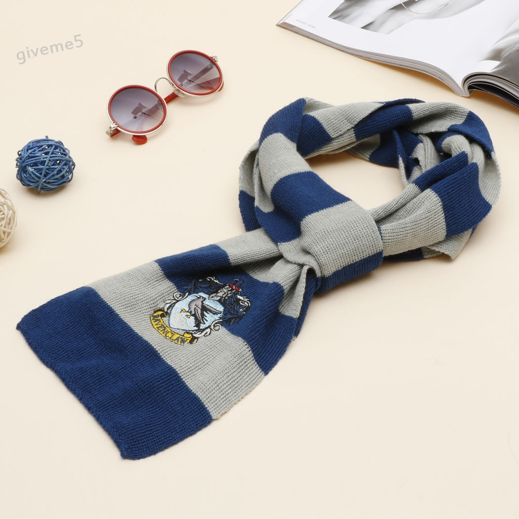 ᐃModa invierno Unisex bufanda mágica casa tejer rayas mantener ...