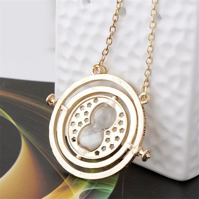 Vintage Rotating Horcrux Harri Potter Time Turner Necklace Time Converter Time P