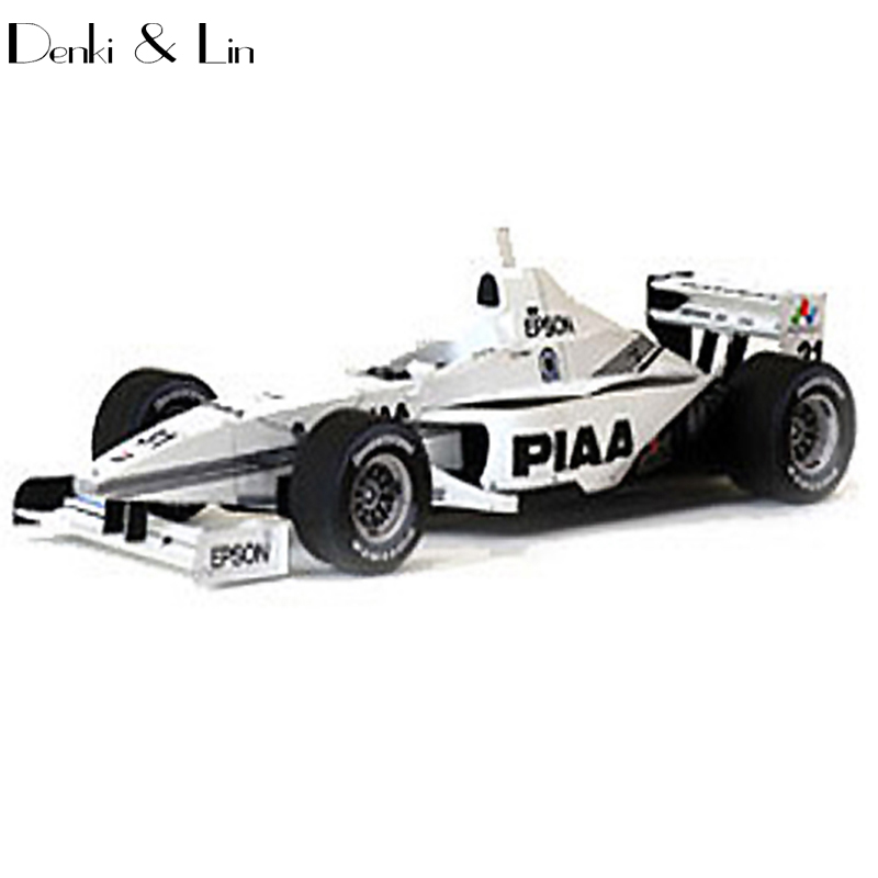 1:24 3D  10cm Japanese Formula Racing Car F1 Year 2005  Paper Model Assemble Hand Work Puzzle Game DIY Kids Toy Denki & Lin