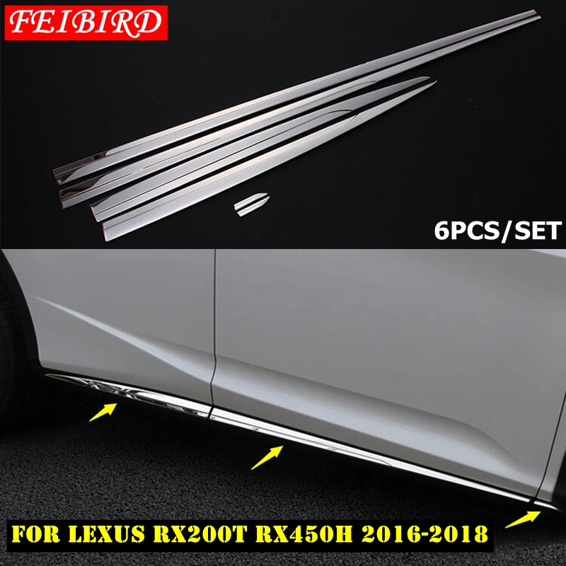 Stainless steel Side Door Speaker Cover Trim 6pcs For LEXUS RX200t RX450h 2016