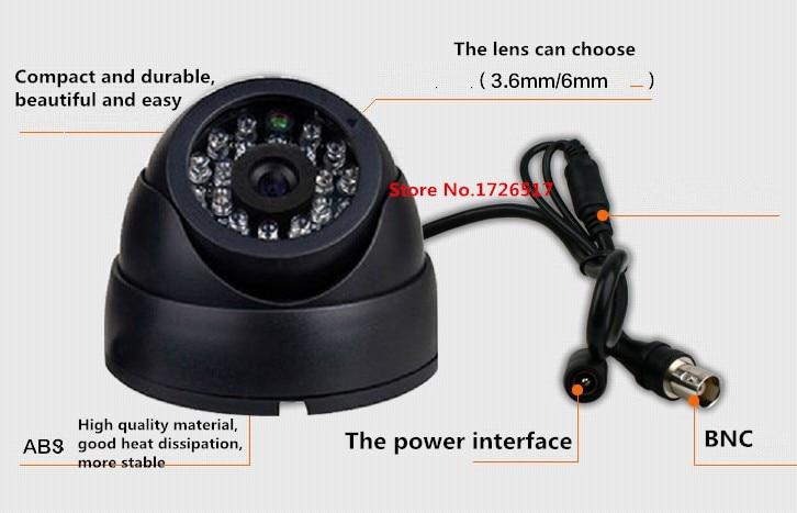 2016 HOT 1/3 Color CMOS 800TVL Indoor security CCTV camera home Video Surveillance hd night vision video mini Dome Camera