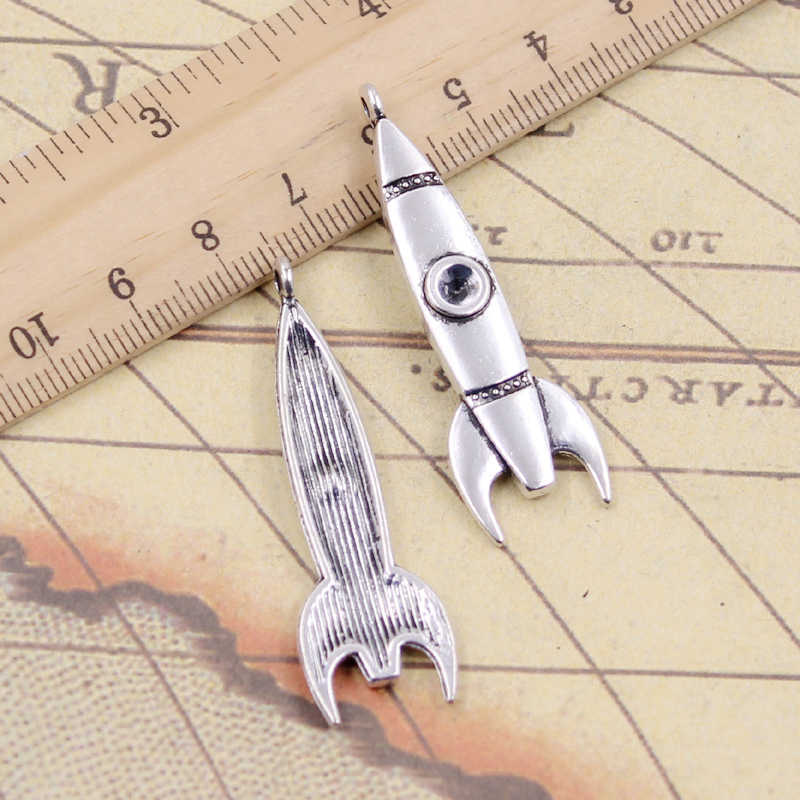 10pcs Charms rocket missile 50x15mm Tibetan Silver Plated Pendants Antique Jewelry Making DIY Handmade Craft