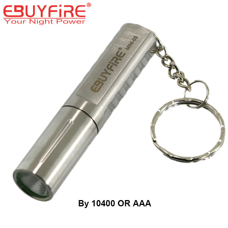 Stainless Steel Mini Flashlight Waterproof CREE XPG R5 LED 10400 Torch Keychain Light + 600mAh 10440 battery white purple yellow light led flashlight stainless steel torch 18650 rechargeable uv torch olight jade identification