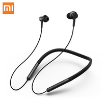 100% Original Xiaomi Mi bluetooth Neckband Earphones Collar Sports Magnetic Wireless Dual Cell Headphones With Mic