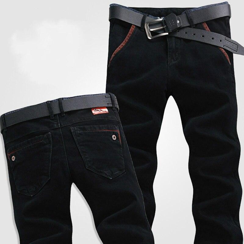 Lguc. h Лидер продаж оригинальный Дизайн модные тонкие мужские черные джинсы-стретч марки Мужская одежда Повседневное Для мужчин прямые джинс...
