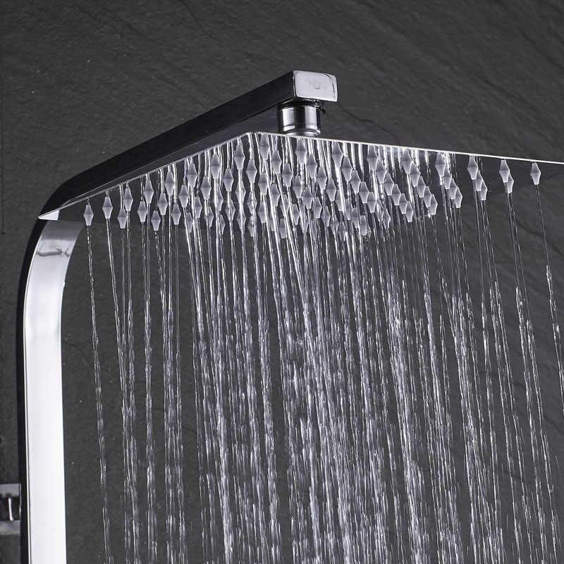 Chrome kabina prysznicowa kran łazienka deszczownica miksery prysznicowe ręcznik kąpielowy obrotowa wylewka wanna wylewka wodospad wanna bateria prysznicowa
