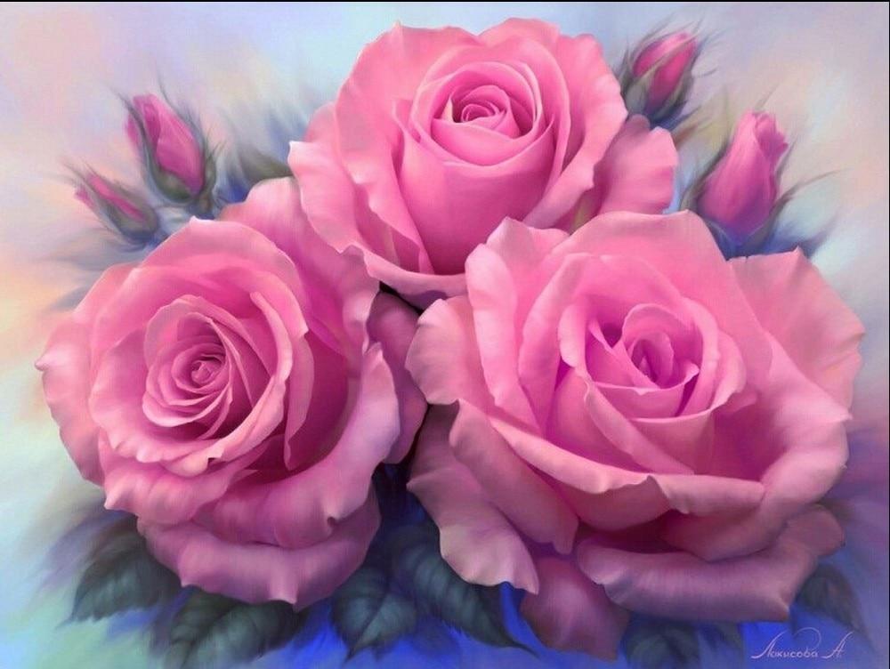 Novi mozaik puni dijamant slika vezenje perle Lijepa crvena ruža - Umjetnost, obrt i šivanje