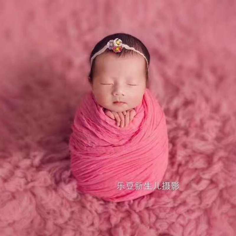 90*90 cm Newborn Photography props Dyed <font><b>Cheesecloth</b></font> <font><b>Wrap</b></font> Baby Girl stretch Jersey blanket Layering Fabric image