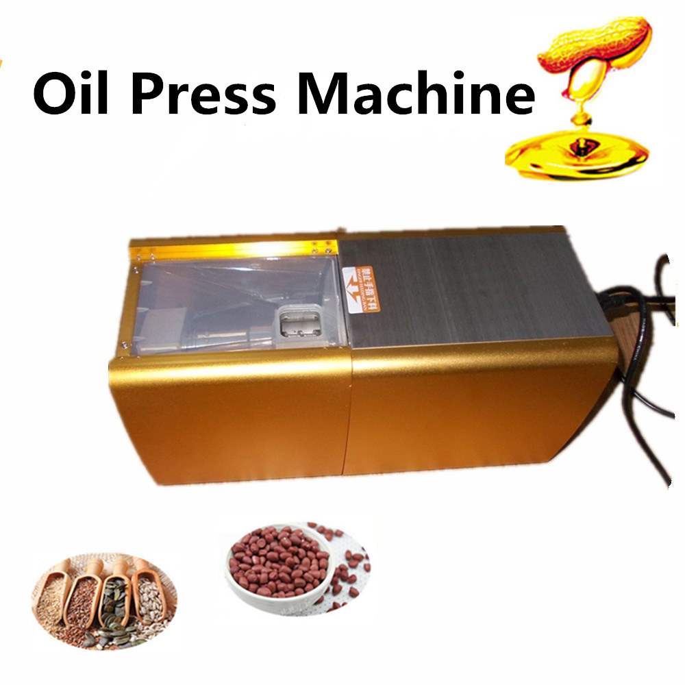 Stainless stee Oil press machine home Oil presser peanut  seed rapeseed  pecan small almond  household oil mill  180-240V 200W