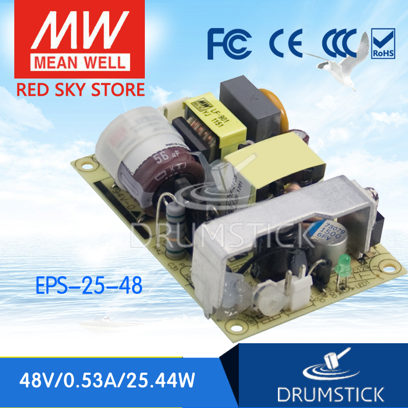 Advantages MEAN WELL EPS-25-48 48V 0.53A meanwell EPS-25 48V 25.44W Single Output Switching Power Supply meanwell rs 25 48 single output power
