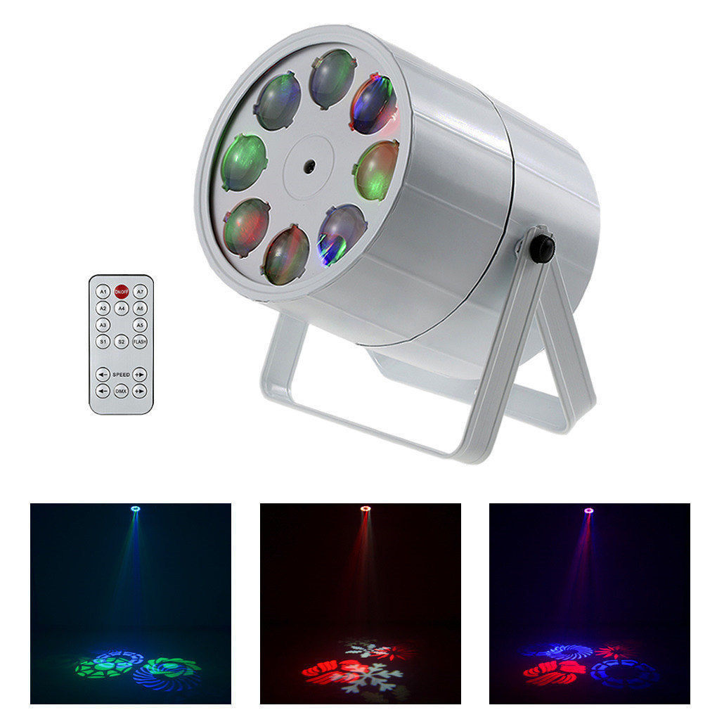 AUCD Remote 8 Lens RGBW LED Projector Stage Lights Rotate Moving Pattern DMX DJ Home Wedding Atmosphere Show Party Lighting M8YAUCD Remote 8 Lens RGBW LED Projector Stage Lights Rotate Moving Pattern DMX DJ Home Wedding Atmosphere Show Party Lighting M8Y