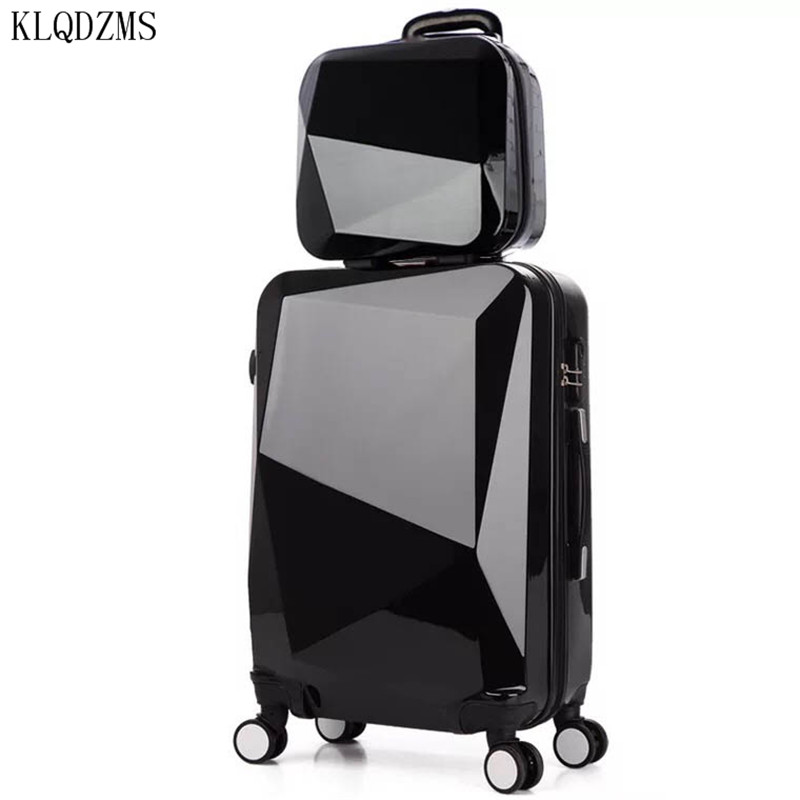 KLQDZMS 20/24/28inch Travel Suitcase Rolling Luggage Set Spinner Trolley Case Pc Trolley Bag On Wheels