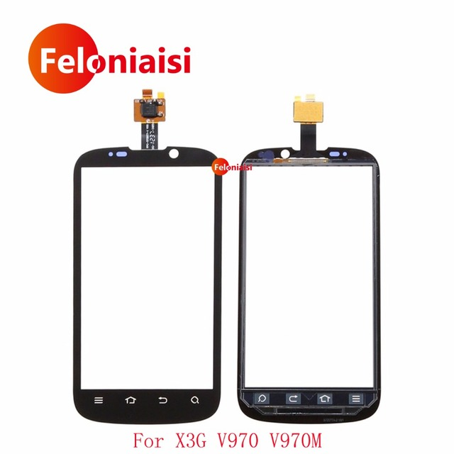 "10Pcs/lot High Quality 4.3"" For ZTE X3G V970 V970M Touch Screen Digitizer Sensor Outer Glass Lens Panel Black+Tracking"