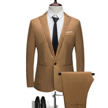 Пиджаки для женщин + брюки девочек комплект из 2 предметов/Мода 2018 г. Новый для мужчин's повседневное деловая одежда, костюм Slim Fit сплошной цвет костюмы куртк