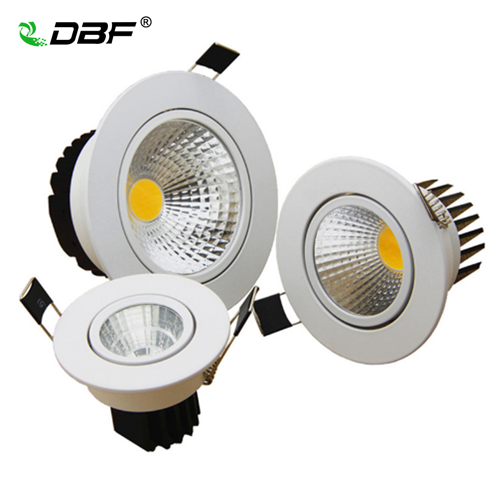 dimmable led cob downlight ac110v 220v 5w 7w 10w 12w recessed led spot light lumination indoor. Black Bedroom Furniture Sets. Home Design Ideas