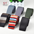 New Arrival Knitted Tie For Mens Narrow Slim Skinny Woven Neckties Formal Wear Business 5.5cm Free Shipping Color 1-20