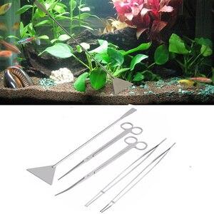 Image 2 - Professional Aquarium Maintenance Cleaning Tool Kit Tweezers Scissors Prune For Live Plants Grass Modeling Fish Tank Accessories