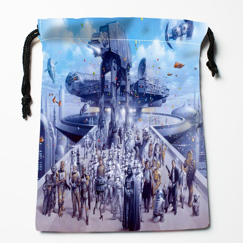 New Arrival P2 Star Wars Battlefront Drawstring Bags Custom Storage Printed Receive Bag Type Bags Storage Bags Size 18X22cm