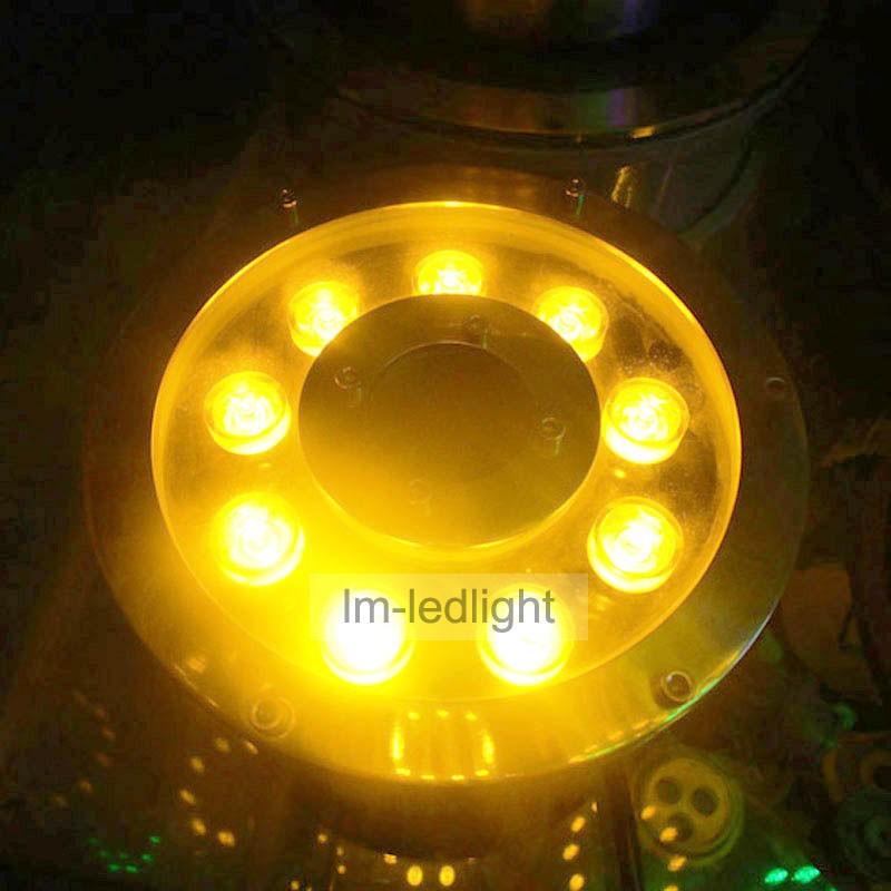 9W yellow led fountain light (45)