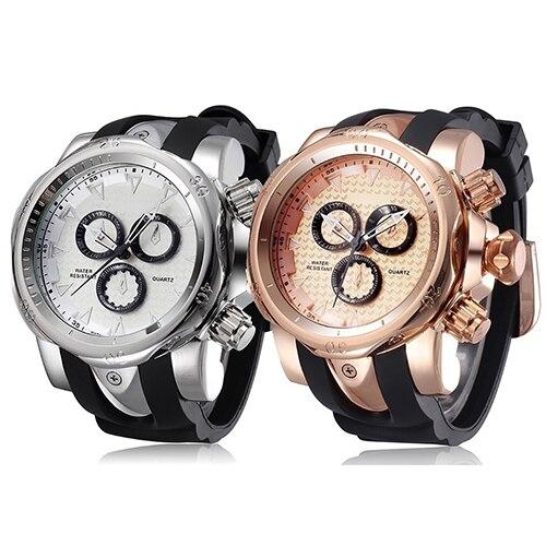 Men Fashion Casual Sport Cool Silicone Strap Military Luxury Quartz Wrist Watch