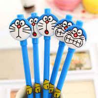 10 шт./компл. 0,5 мм Милая мультяшная музыкальная кошка черная гелевая ручка Doraemon Водяная ручка черная углеродная ручка на подарок ребенку