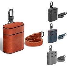 Чехол для наушников Airpods защитный чехол Беспроводная bluetooth-гарнитура коробка сумка с зарядкой чехол из натуральной кожи чехол для Airpods