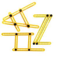 1pcs Multifunctional Four Folding Plastic Ruler Children Pattern Cognitive Ability Puzzle Toys Learning Tools Colors Random
