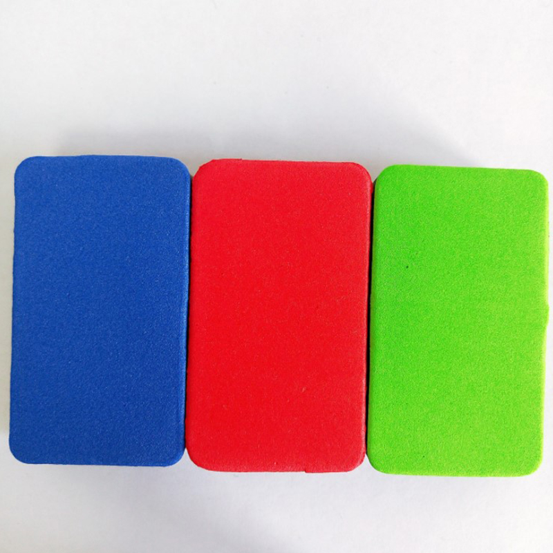 3 PCS Mini Kid Colorful EVA Sponge Whiteboard Eraser Dry Erase Board Marker Cleaner  Chalk Blackboard Wipe School  Supplie