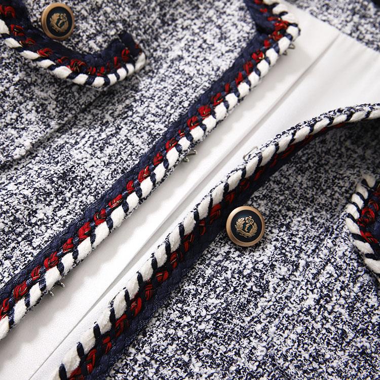 새로운 커팅 wt0015 스트리트 스냅 스타 모델 가을 겨울 트위드 섬세한 쇼 얇은 원사 달콤한 바람 코트와 염색-에서베이식 쟈켓부터 여성 의류 의  그룹 3