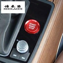Estilo do carro botão de partida do motor capa anel parar interruptor chave decoração adesivo acessórios automóveis para audi a4 b9 a5 a6 c7 a7 q5 q7