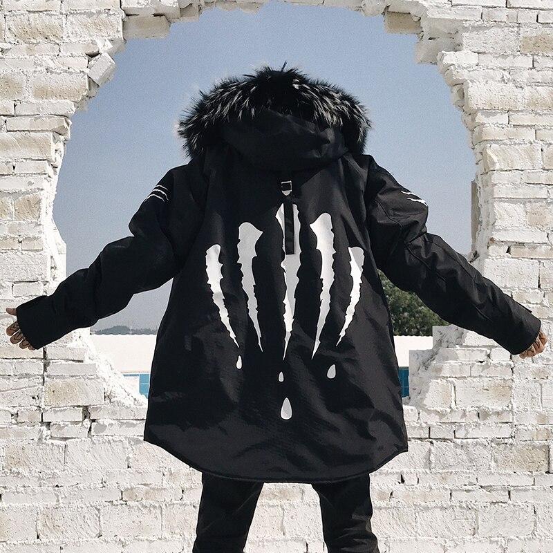 남성 파커 스 겨울 자켓 모피 후드 코트 자켓 남성 파카 패딩 두꺼운 따뜻한 코트-에서파카부터 남성 의류 의  그룹 1