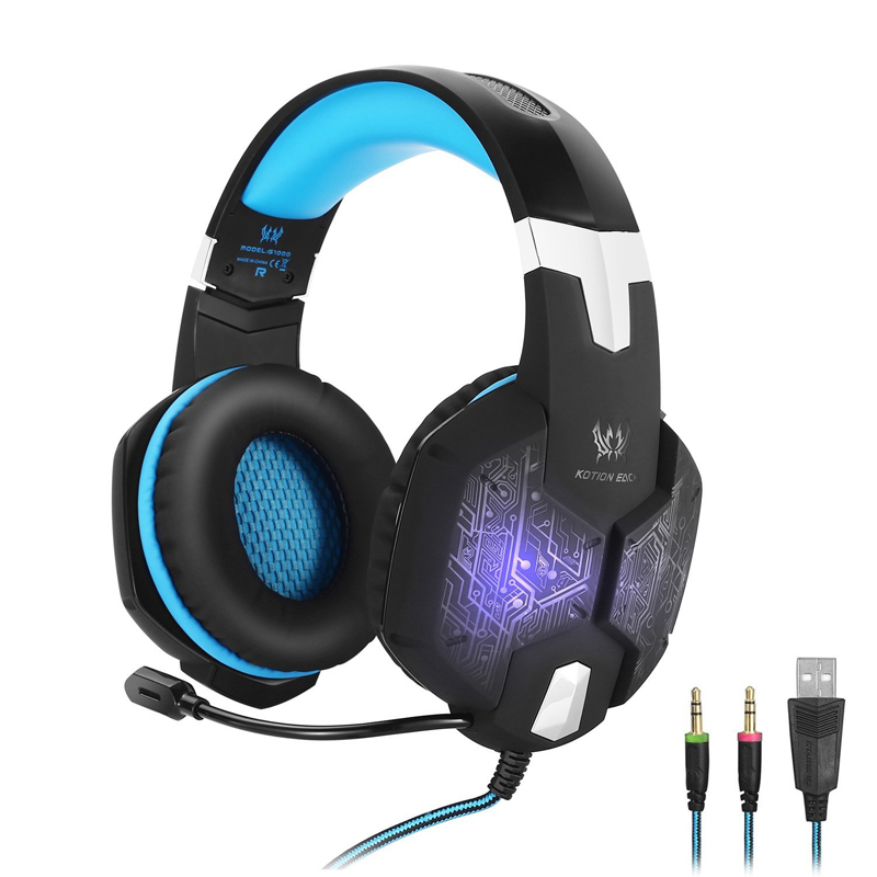 3.5mm Gaming Headphone For Computer With Mic PC Gaming Headset With Microphone Gaming Headphone With Microphone For Computer