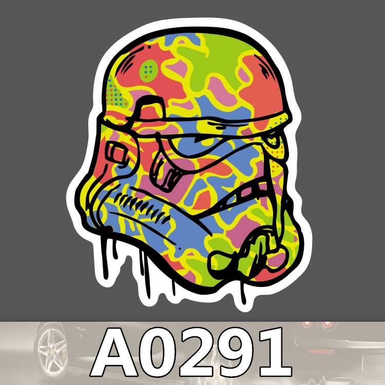 Bevle A0291 Storm Troopers Waterproof Sticker for Cars Laptop Luggage Skateboard Graffiti Notebook Stickers Fashion DIY