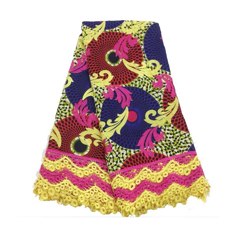 High-End Ankara Lace Wax 2019, Pange Ankara Wax Lace Fabric, African Lace Fabric New Wax Cord Lace For Women Wedding Party Dress