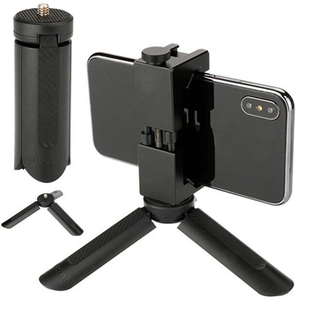 Mini Triple Mount Tabletop Stand Bracket 1/4 Screw For DJI OSMO 2 Zhiyun Smooth Feiyu Vimble Gimbal Moblie Phone Tripod Holder